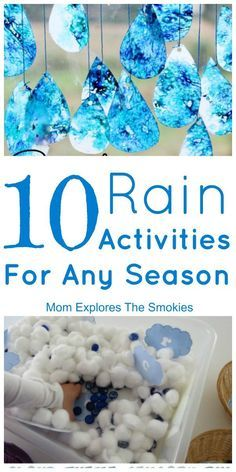 These awesome rain activities for kids incorporate learning, crafting, motor skills and sensory.
