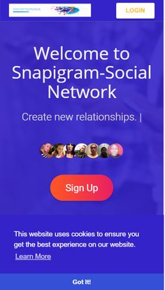Use many futures and social media to promote yourself for free. Snapigram is one of new professional social media site that you can use for free to point to your business. Social Link, Social Media Site, Business Networking, Life Moments, New Relationships, Promote Your Business, Social Networks, How To Get, Learning