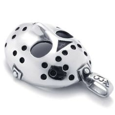 "24"" KONOV Jewelry Stainless Steel Halloween Jason Mask Mens Necklace Pendant - Silver Black, 24 inch Chain KONOV Jewelry. Save 75 Off!. $16.99. Pendant Height: 2.24""(5.7cm) Width: 1.5""(3.8cm). Pendant arrives with one quality stainless steel chain.. Color: Silver & Black; Material: Stainless Steel. Chain Length: 18"" 20"" 22"" 24"" or 26"" Width: 3mm"