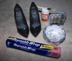 DIY glitter heels- I've seen a bunch of YouTube tutorials for these, this is a great tutorial with pics!