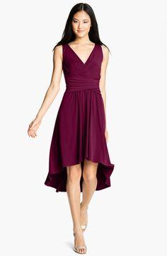 Ivy & Blu Pleated Front V-Neck Dress | Nordstrom