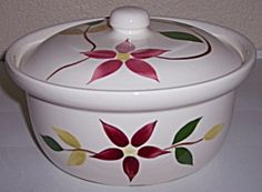Image detail for -BLUE RIDGE POTTERY STARFLOWER CASSEROLE W/LID! (Porcelain and Pottery ...