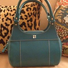 KATE SPADE Tarrytown Tote Authentic. Peacock blue pebbled leather. So gorgeous and in excellent condition please let me know if you have questions.  Dustbag is included. kate spade Bags Totes
