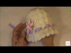 Gorro bonnet para bebes de 0-6 meses a crochet. - YouTube