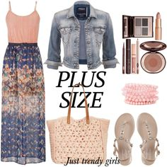plus size dress by justtrendygirls on Polyvore featuring maurices, Silver Jeans Co., Straw Studios and Charlotte Tilbury