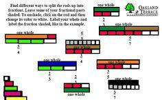 Fractional values of different wholes using Cuisenaire Rods Math Classroom, Kindergarten Math, Teaching Math, Learning Fractions, Math Fractions, Ks1 Maths, Numeracy, Homeschool Math Curriculum, Homeschooling