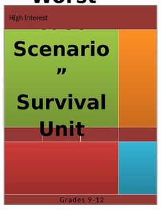"""I designed this worksheet and project to go with the """"Worst-Case Scenario"""" Survival Handbook Series. It has become my """"GO TO"""" unit for my tougher classes of """"At-Risk"""" high school students and reluctant readers.Even my """"refusers"""" will look at this, despite themselves! The book topics provide material... First Day Activities, Reluctant Readers, Reading Worksheets, High School Students, The Book, Survival, The Unit, Books, Projects"""