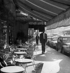 Paris, France (Man Walking, Outdoor Street Cafe), 1959 - Vivian Maier