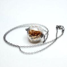Glass Globe Glitter Necklace : Wantist