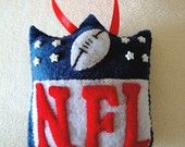 NFL felt ornament by lexisfeltique