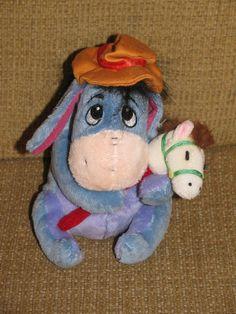 """7"""" Disney Eeyore Blue Donkey w/ Toy Horse Stuffed Animal Plush"""