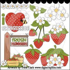 Strawberry Patch 2 - Non-Exclusive Trina Clark Clip Art