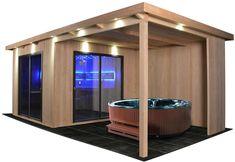 Outdoor Sauna, Jacuzzi Outdoor, Saunas, Outdoor Garden Rooms, Outdoor Decor, Sauna House, Hot Tub Gazebo, Greenhouse Shed, Sauna Design