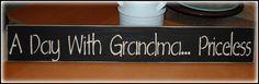 Wood sign.  Great Grandma gift!