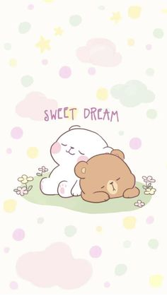 Wall Paper Anime Couple Sweets 49 Ideas For 2019 Live Wallpaper Iphone, Bear Wallpaper, Kawaii Wallpaper, Cute Couple Cartoon, Cute Love Cartoons, Cute Love Pictures, Cute Love Gif, Cute Bear Drawings, Kawaii Drawings