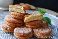 Galletas fritas rellenas de crema - Cocinera y Madre