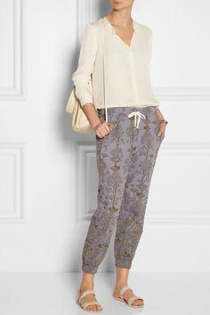 Raquel Allegra|Silk-georgette blouse|NET-A-PORTER.COM