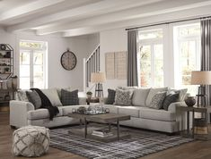 Get Ashley Furniture's Velletri Pewter Living Room Set with easy payment options from Coleman Furniture. Includes free in-home delivery and assembly. Trendy Living Rooms, French Country Living Room, Farm House Living Room, Living Room Sets, Home And Living, Living Room Collections, Living Decor, Country Living Room, Living Room Furniture