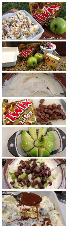 No Bake Twix Caramel Apple Salad Recipe - if you only try one recipe this summer, make it this one!