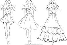woman dress fashion sketch