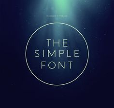 The Simple Font