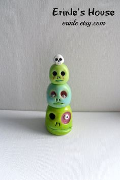Polymer Clay Sculpture  The Zombie Totem  Halloween by Erinle, $20.00