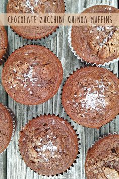 we know stuff | Chocolate Zucchini Quinoa Muffins | http://www.weknowstuff.us.com