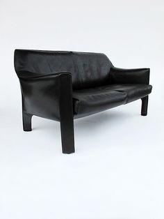 Mario Bellini; Leather 'Cab' Sofa for Cassina, 1970s.