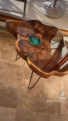 Woodworking Ideas Table, Woodworking Furniture, Woodworking Shop, Wood Furniture, Furniture Design, Epoxy Resin Wood, Resin Art, Bathroom Design Luxury, Wood Interiors