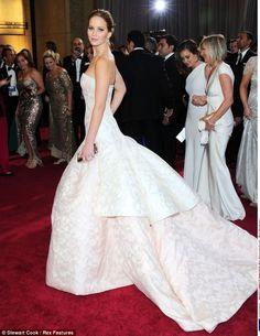 Jennifer Lawrence's dress. Stunning.