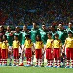 Mexico players sing the National Anthem