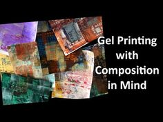Gel Printing with Composition in Mind Gelli Plate Printing, Stamp Printing, Paper Video, Gelli Arts, Paper Crafts Origami, Plate Art, Famous Last Words, Stencil Painting, Gravure