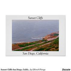 Sunset Cliffs San Diego, California Poster
