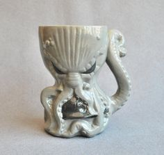 Large beer mug Cthulhu mug handmade by KorchevDesignStudio on Etsy