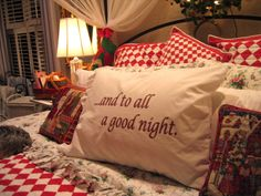Our bedroom gets a cozy Christmas makeover.  I added a lighted wreath above the headboard.  Topped the bed with a red checkeboard quilt, sh...