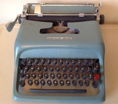 Your place to buy and sell all things handmade Retro Typewriter, Maroon Color, Dusty Blue, Manual, Teal, Studio, How To Make, Vintage, Textbook
