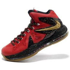 off Again to Buy Nike Lebron 10 PS Elite Gym Red Black Gold with Western Union -Cheap Lebron James Shoes