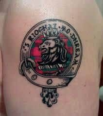 What does family crest tattoo mean? We have family crest tattoo ideas, designs, symbolism and we explain the meaning behind the tattoo. Family Crest Tattoo, Tattoo Designs, Tattoo Ideas, Tattoo Images, Girl Tattoos, Symbols, Scotland, Google Search, Shoulder