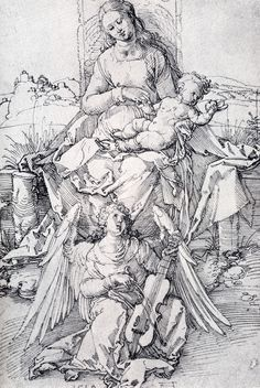 The madonna And Child With A Music-Making Angel,  Albrecht Dürer - 1519