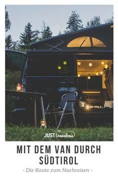 Wandern, Campen, Essen und einmal hoch hinaus - die perfekte Route für euren Road Trip durch Südtirol mit dem Van. #Vanlife