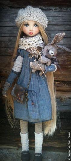 Коллекционные куклы ручной работы. Карина. Юлия Ильина. Интернет-магазин Ярмарка Мастеров. Кукла ручной работы, трикотаж