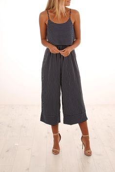7311ec19835d Express Yourself Jumpsuit Navy Casual Summer Outfits