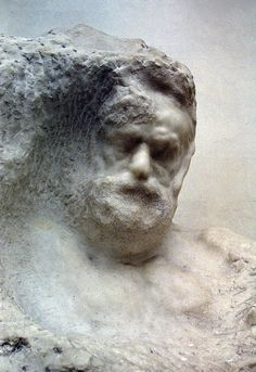 ♔ Portrait of Victor Hugo, sculpted into the marble ~ by Auguste Rodin