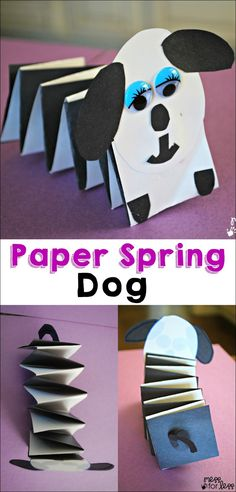 Paper Crafts for Kids - Spring dog - This fun craft for kids uses just a few basic supplies and is just too cute. Great craft for kids!