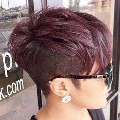 WOW!!! Diese Kurzhaarfrisuren mit Undercut sind total HOT! - Neue Frisur (Pastel Hair Red)