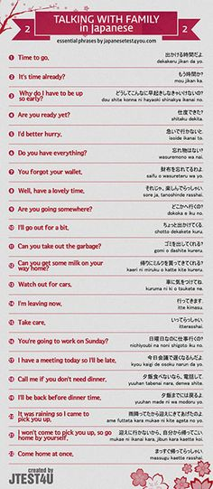 Infographic: how to talk to your family members in Japanese part 2