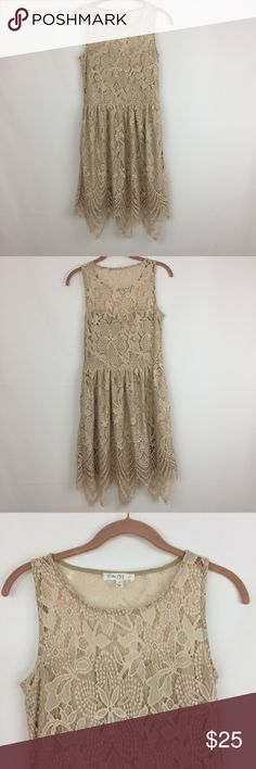 Gatsby inspired lace dress by Love Fire size S Gatsby inspired lace dress with sheer neck and flapper-like hemline, size small worn twice in great condition Love Fire Dresses Midi