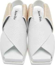 Acne Studios White Leather Fera Sandals