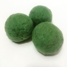 Dryer balls will drive out toxic dryer sheets. Handmade with 100 % wool. They take hours to make a set of 3. Add a few drops of pure YL essential oils to each ball to make your clothes smell delightful!!!!