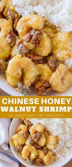 Fish Recipes, Seafood Recipes, Asian Recipes, Ethnic Recipes, Fried Shrimp Recipes, Shrimp Dinner Recipes, Honey Recipes, Healthy Diet Recipes, Healthy Meal Prep